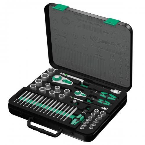 WERA - Гедоре 8100 SA/SC 2 Zyklop Speed Ratchet с две тресчотки, вложки, удължители и битове в куфар 05160785001