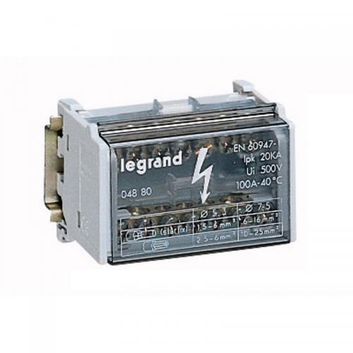LEGRAND - Разпределителен клемен блок 100А 2P 4 модула 4880