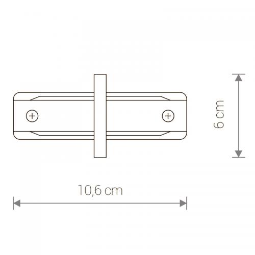 NOWODVORSKI - Конектор  PROFILE RECESSED STRAIGHT CONNECTOR WHITE 8967