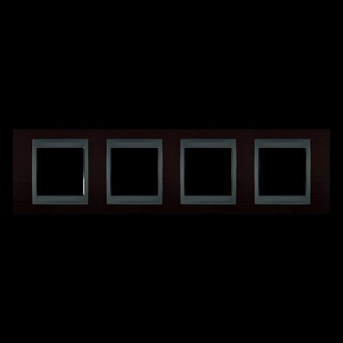 SCHNEIDER ELECTRIC - MGU66.008.2M3 Unica Top - cover frame - 4 gang - wengue/graphite