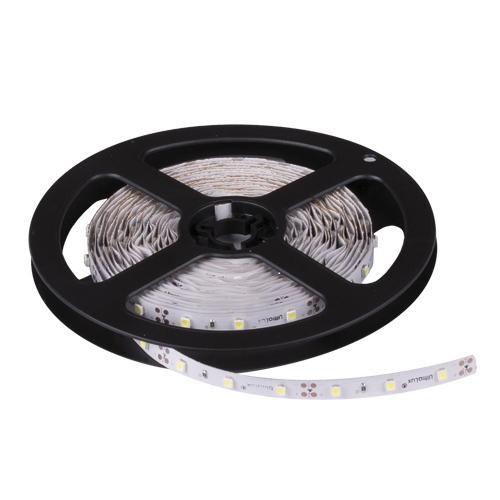 ULTRALUX - PN3560A LED лента SMD3528, 4.8W/m кехлибар, 24V DC, 60LEDs/m, 5m, неводоустойчива