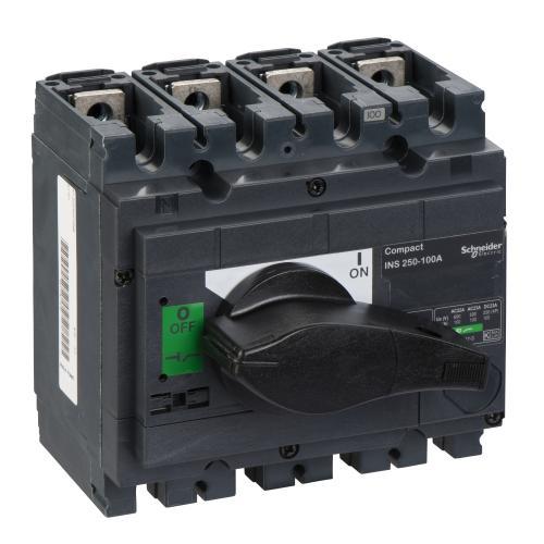 SCHNEIDER ELECTRIC - Товаров прекъсвач INS250 4P 100A с ръкохватка ComPact 31101