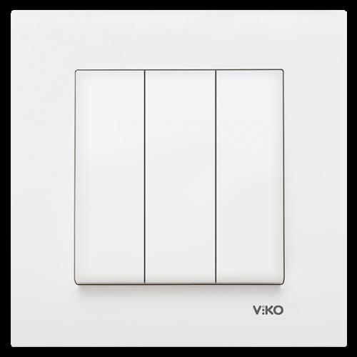 VIKO - 9096 0068 3-gang One-way Switch Vko Karre
