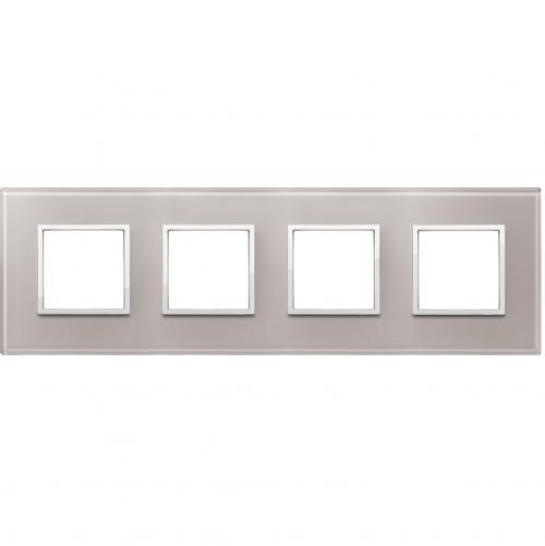 VIMAR - 21669.73 Четворна рамка crystal pearl grey