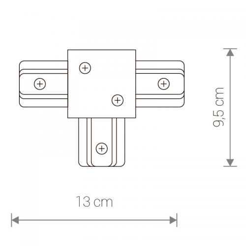 NOWODVORSKI - Конектор  PROFILE RECESSED T- CONNECTOR WHITE 8834