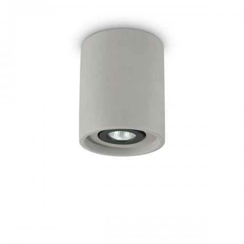 IDEAL LUX - Плафон OAK PL1 ROUND Cemento 150437