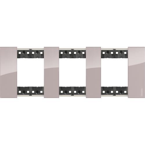 BTICINO - Рамка 3x2 мод. немски стандарт цвят Аура Living Now Bticino KA4802M3DM