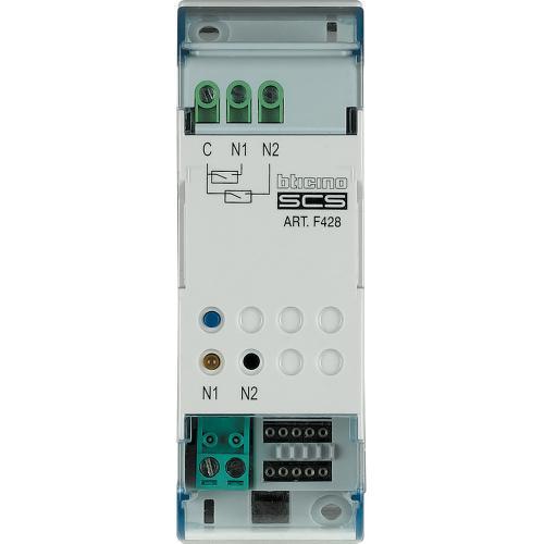 BTICINO - F428 Интерфейс управление 2 канала за DIN шина 2М