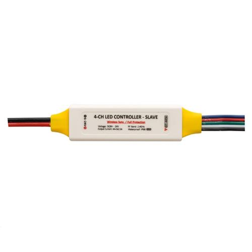 ULTRALUX - P6RGBWS ПРОФЕСИОНАЛЕН RF КОНТРОЛЕР ЗА RGBW LED ОСВЕТЛЕНИЕ SLAVE 6-24V DC, 3X2.5+4A, IP68