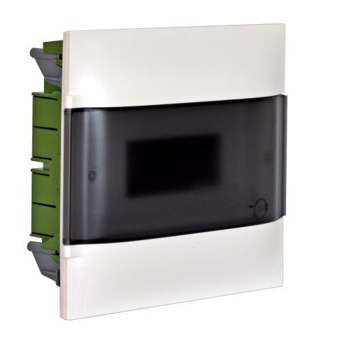 LEGRAND - Табло за скрит монтаж 12 мод. Practibox S с прозрачна врата и Н и РЕ клеми 135151