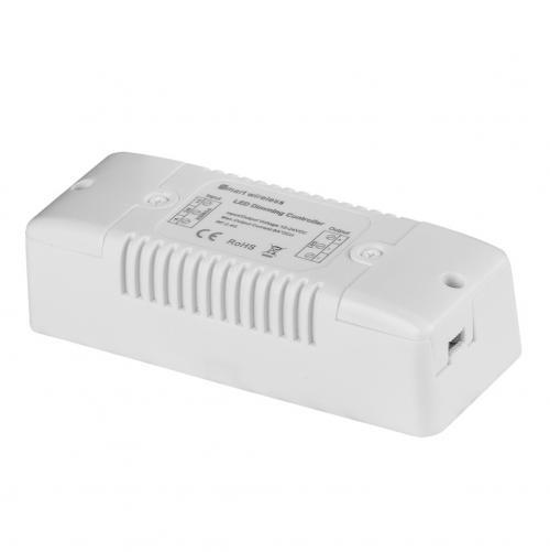 ULTRALUX - SSD1216 Smart 2.4G RF димер за едноцветна LED лента 2x8A, 192W (12V), 12-24V DC