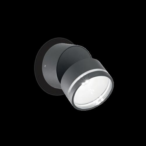 IDEAL LUX - Аплик OMEGA ROUND AP1 Antracite 247076 3000K