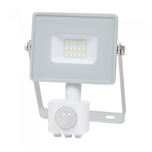 V-TAC PRO - 10W LED Прожектор Сензор SAMSUNG ЧИП Бяло Тяло 4000К SKU: 434 VT-10-S