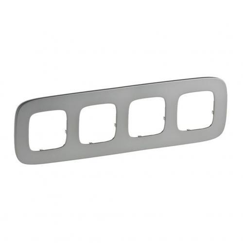 LEGRAND - Четворна рамка ALLURE 755504 светъл никел