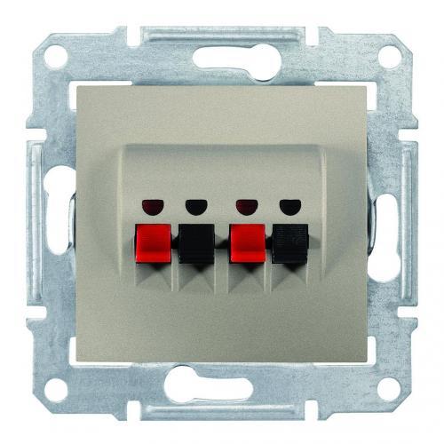 SCHNEIDER ELECTRIC - SDN5400168 Двойна розетка за високоговорител Sedna, титаний