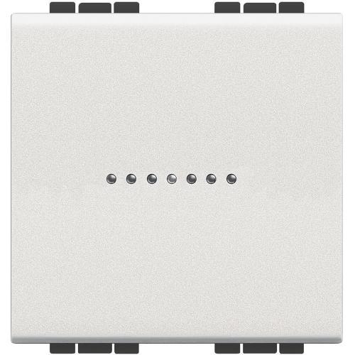 BTICINO - N4054M2 Ключ Аксиален кръстат 2 модул бяло Livinglight