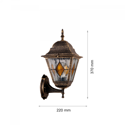 TNL - Градински фенер АРТ yellow glass