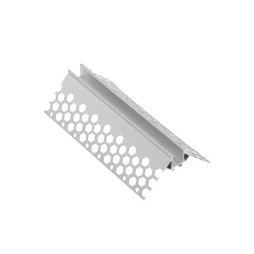 GTV Lighting - Алуминиев профил за лед лента за вграждане в гипсокартон външен ъгъл 3м. PA-GLAXGKZK3M-00