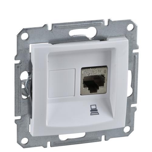 SCHNEIDER ELECTRIC - SDN4500121 Информационна розетка RJ45 кат.5е STP Sedna бял