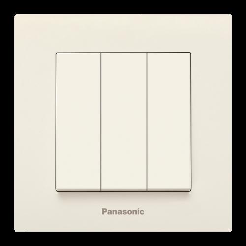 PANASONIC - Ключ троен Panasonic Kare крем WKTC00152BG‐EU1