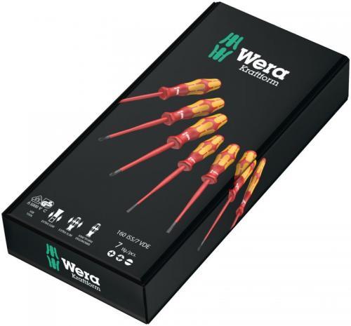 WERA - Комплект отвертки Kraftform Plus Extra Slim VDE, изолирани (7 части) 160 iSS/7