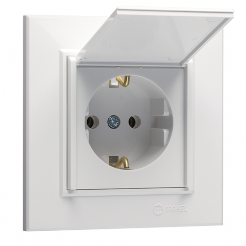 MAKEL - Schuko Socket Outlet With Cover Karea 56001029