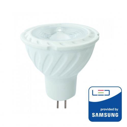 V-TAC PRO - LED Крушка SAMSUNG ЧИП 6.5W GU5.3 MR16 12V 110° 3000K SKU: 204 VT-257, 4000К-205, 6400К-206