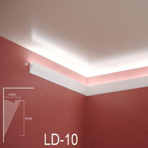 ADORN - Декоративен корниз за индиректно-осветление LD-10-2m 95х45 мм