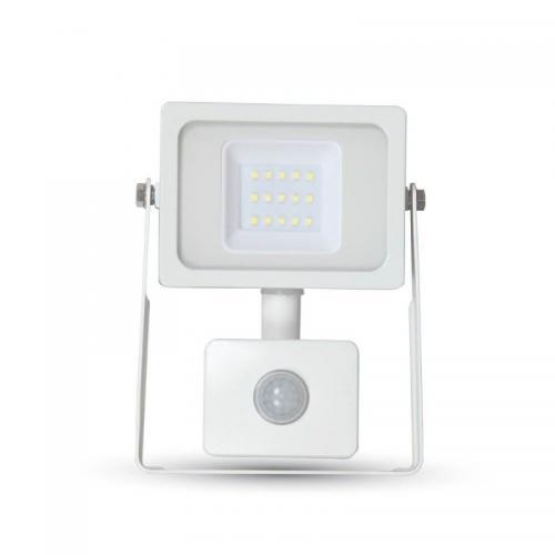 V-TAC - 10W LED Прожектор SMD Сензор Бяло Тяло Неутрално Бяла Светлина SKU: 5787