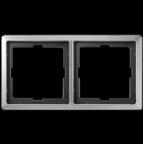 SCHNEIDER ELECTRIC - MTN481246 рамка двойна неръждаема стомана Artec Merten