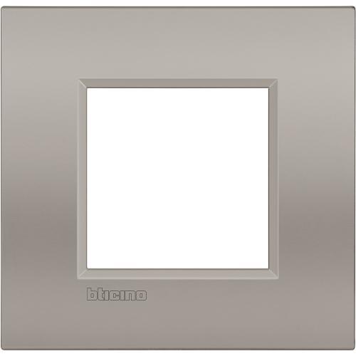 BTICINO - LNC4802SB Рамка 2 мод. метална Sand AIR LL Bticino