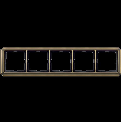 SCHNEIDER ELECTRIC - MTN483543 рамка петорна месинг Antique Merten