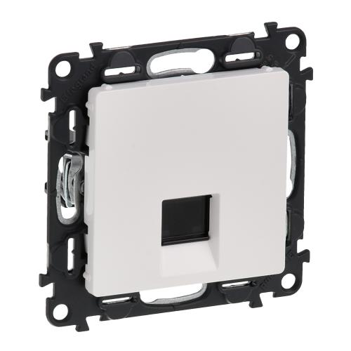 LEGRAND - 7 531 46 RJ 45 socket Valena Life - category 6 STP - with cover plate - white