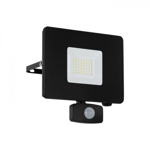 EGLO -  ВЛ ПРОЖЕКТОР LED 30W 2750lm 5000K със сензор черно 'FAEDO 3' 97462