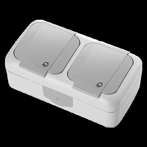 VIKO - двоен контакт Palmiye IP54 влагозащитен