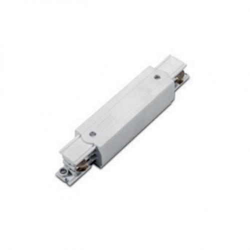 ACA LIGHTING - Прав захранващ конектор за трифазна шина за вграждане бял 4ATIW