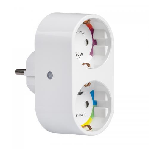 ULTRALUX - WF2P16A Wi-Fi Smart контакт, двоен, 16А, 3500W, 220-240V AC