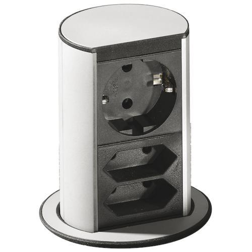 BACHMANN - B928.003 Модул ELEVATOR 2 броя евро контакт + контакт тип шуко с детска защита черен