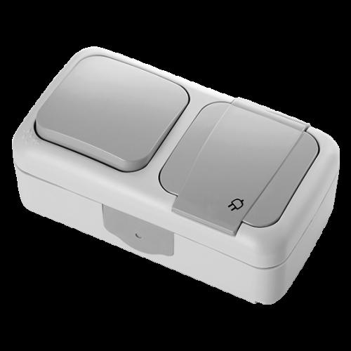 VIKO - единичен ключ+контакт Palmiye IP54