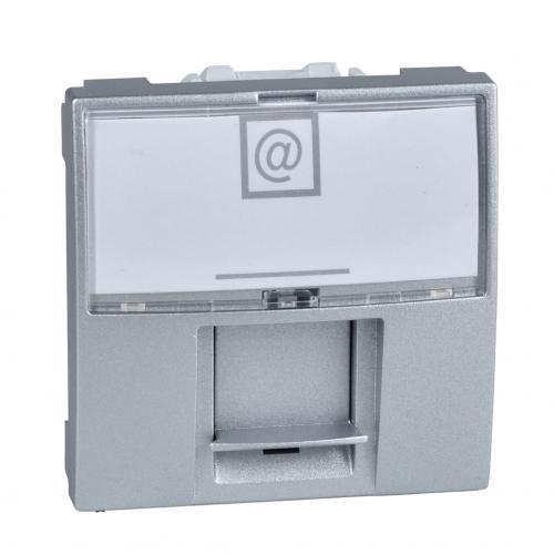 SCHNEIDER ELECTRIC - MGU3.415.30 Unica информационна розетка Rj45 UTP кат.6 за компютър алуминий 2m