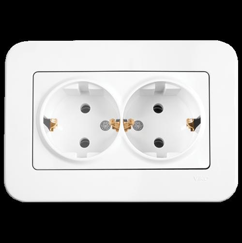 VIKO - Double Socket 2P+E 90420056 white Rollina