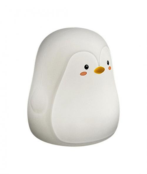 RABALUX -  Детска настолна пингвин BALOO 5410  RGB LED 0,4W,  29lm, 3000K силикон, Li Ion батерии