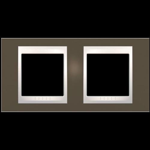 SCHNEIDER ELECTRIC - MGU6.004.571 рамка Unica Plus двойна какао/слонова кост