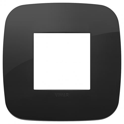 VIMAR - 19672.81 - Двумодулна рамка Round технополимер black