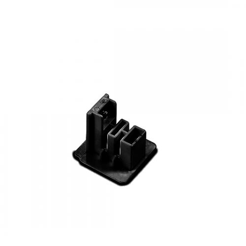 ACA LIGHTING - Крайна капачка за трифазна шина за вграждане черно 4WTEB