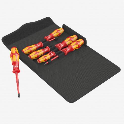 WERA - Комплект отвертки Kraftform Plus Slim VDE 1000V Series 100 iS/7 с 2xPH, 1xPZ/S 2, 2XTorx, 1x шлиц и калъф 05136013001