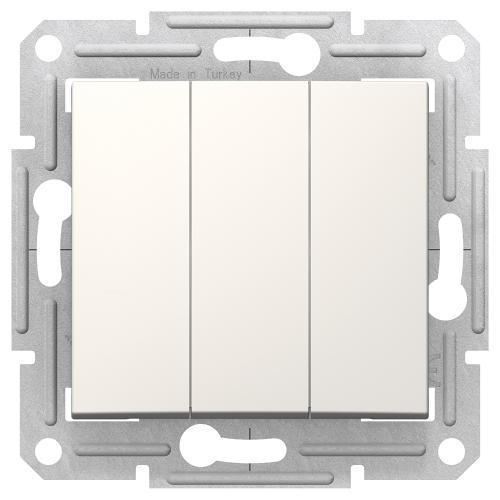 SCHNEIDER ELECTRIC - SDN0300623 Троен ключ Sedna,10А крем