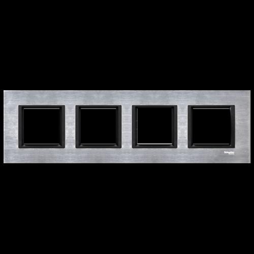SCHNEIDER ELECTRIC - MGU68.008.7A1 декоративна рамка четворна алуминий Unica Class