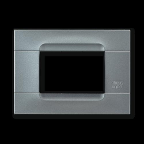 SIMON URMET - 10803.AC Iron Technopolymer Metal Kadra тримодулна рамка