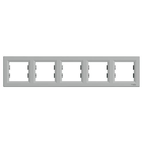 SCHNEIDER ELECTRIC - EPH5800561 Декоративна Рамка Петорна Asfora Алуминий